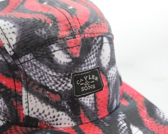 CAYLER & SONS | Red Slither 5-Panel Snapback Hat