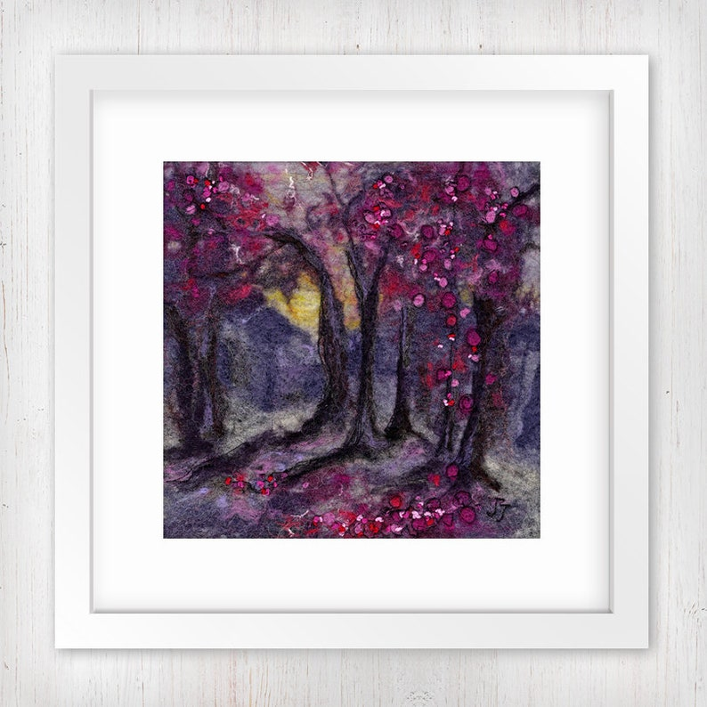 Woodland at Dusk  Midi  Limited Edition Art Print Forest image 0