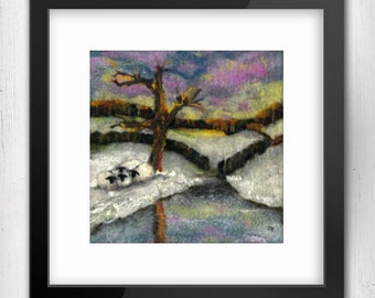 Art Print, The Huddle, Yorkshire, 10'x10' Limited Edition Giclee Art Print, North Yorshire Art Print, Sheep art