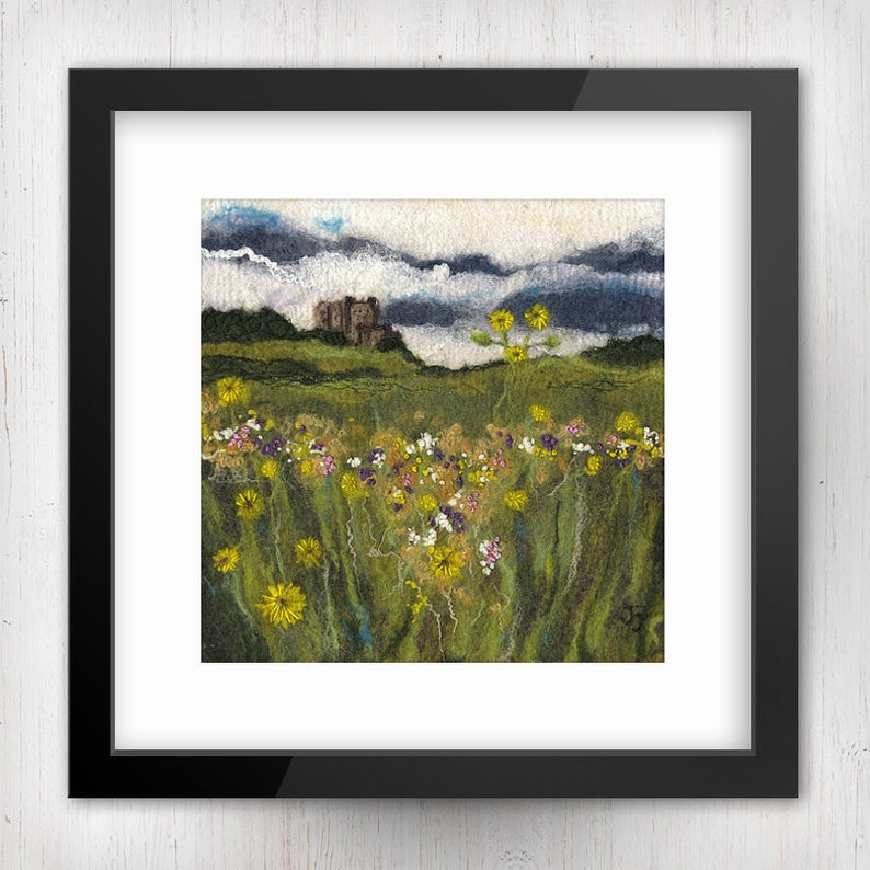 Meadow Flowers at Bamburgh Castle No.2 Northumberland image 0