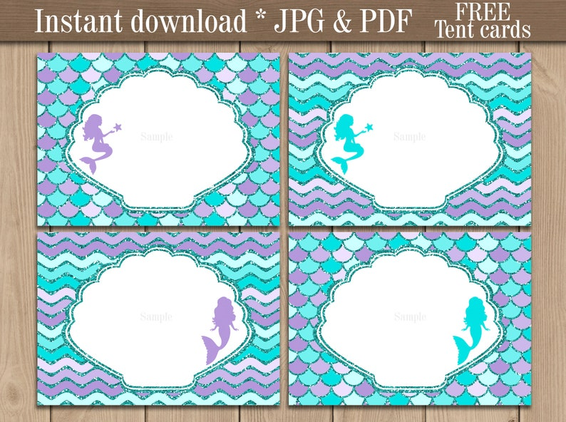 photograph about Free Printable Buffet Food Labels named Mermaid Food items labels printable. Mermaid Tent playing cards. Buffet Sweet bar labels. Mermaid Birthday Celebration decorations. Immediate obtain