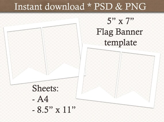 photo about Pennant Template Printable called Flag Banner template. Bunting template. Pennant Banner template. Electronic template. Collage template Printable. Industrial retain the services of