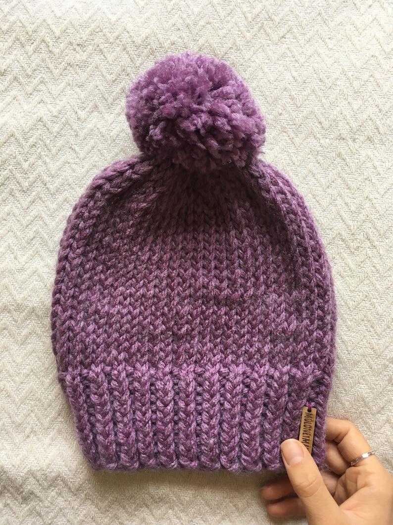 Basic Bobble Hat: KNITTING PATTERN Super Chunky Knit ...