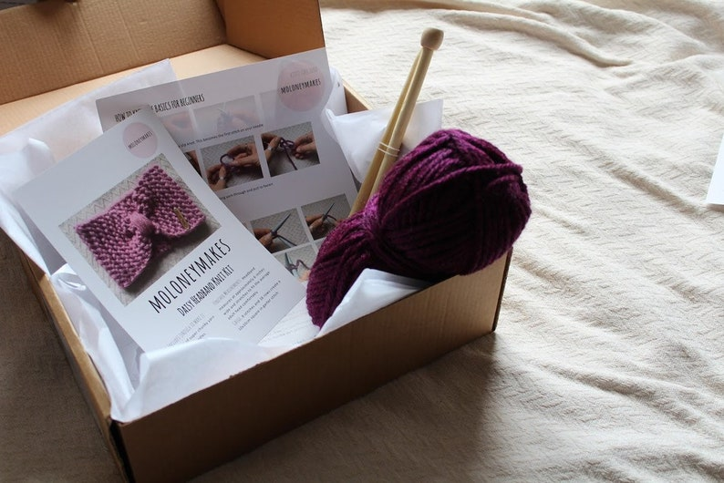 Knitting Kit for Beginners, Super Chunky Turban Headband