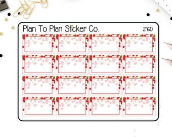 2160~~Christmas Confetti Half Boxes Planner Stickers.