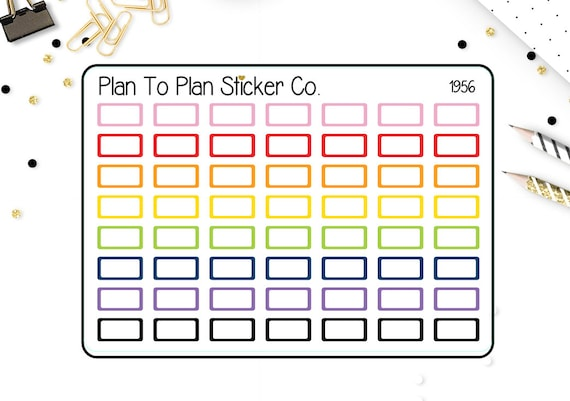 1602~~February Monthly View Planner Stickers.