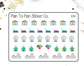 1099~Amusement Park/County Fair Planner Stickers.