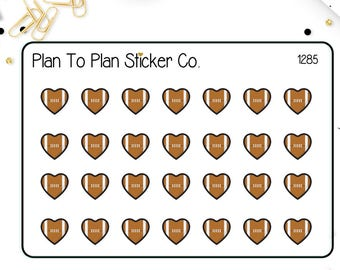 1285~~Football Game Reminder Planner Stickers