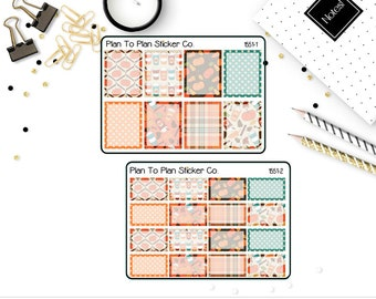 1551~~Pumpkin Spice Boxes Planner Stickers.