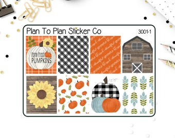 3001~~Rustic Fall Weekly Kit Planner Stickers.