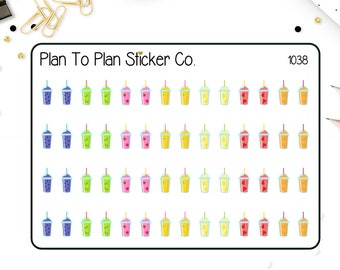 1038~~Fruit Smoothie Planner Stickers.