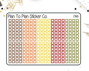 2168~~Fall Checklist Strips  Planner Stickers.