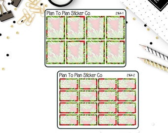2164~~Christmas Evergreen Boxes Planner Stickers.
