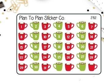 2152~~Hot Chocolate Date Covers Planner Stickers.