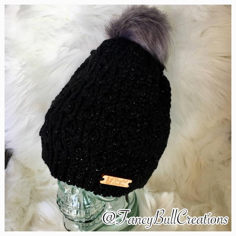 Faux Fur Crochet Beanie Winter Hat Handmade Many Colors  275d08d319cf