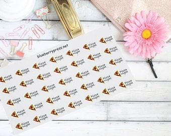 Pizza Night Planner stickers | Planner Stickers | Limelife | Erin Condren | Happy Planner | Carpe Diem | Kikki K