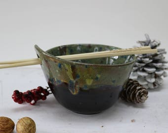 Rice Bowl, Asian Rice Bowl, Chopstick Bowl, Rice Bowl with Chopsticks, Noodle Bowl, Ramen Bowl, Pho Bowl, Foodie Gifts, Asian Dishes
