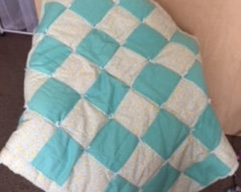 Gender Neutral Extra Thick Baby Quilt
