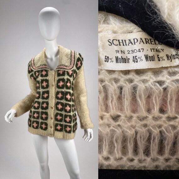 Vintage 1940s Elsa Schiaparelli hand crochet sweat
