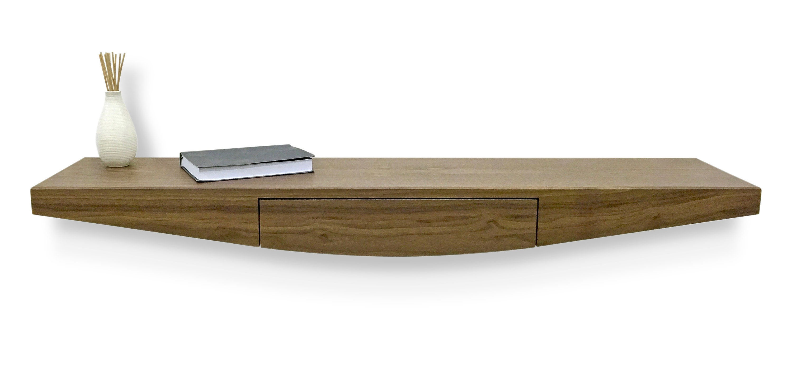 Floating Contemporary Entryway Console Table With Drawer