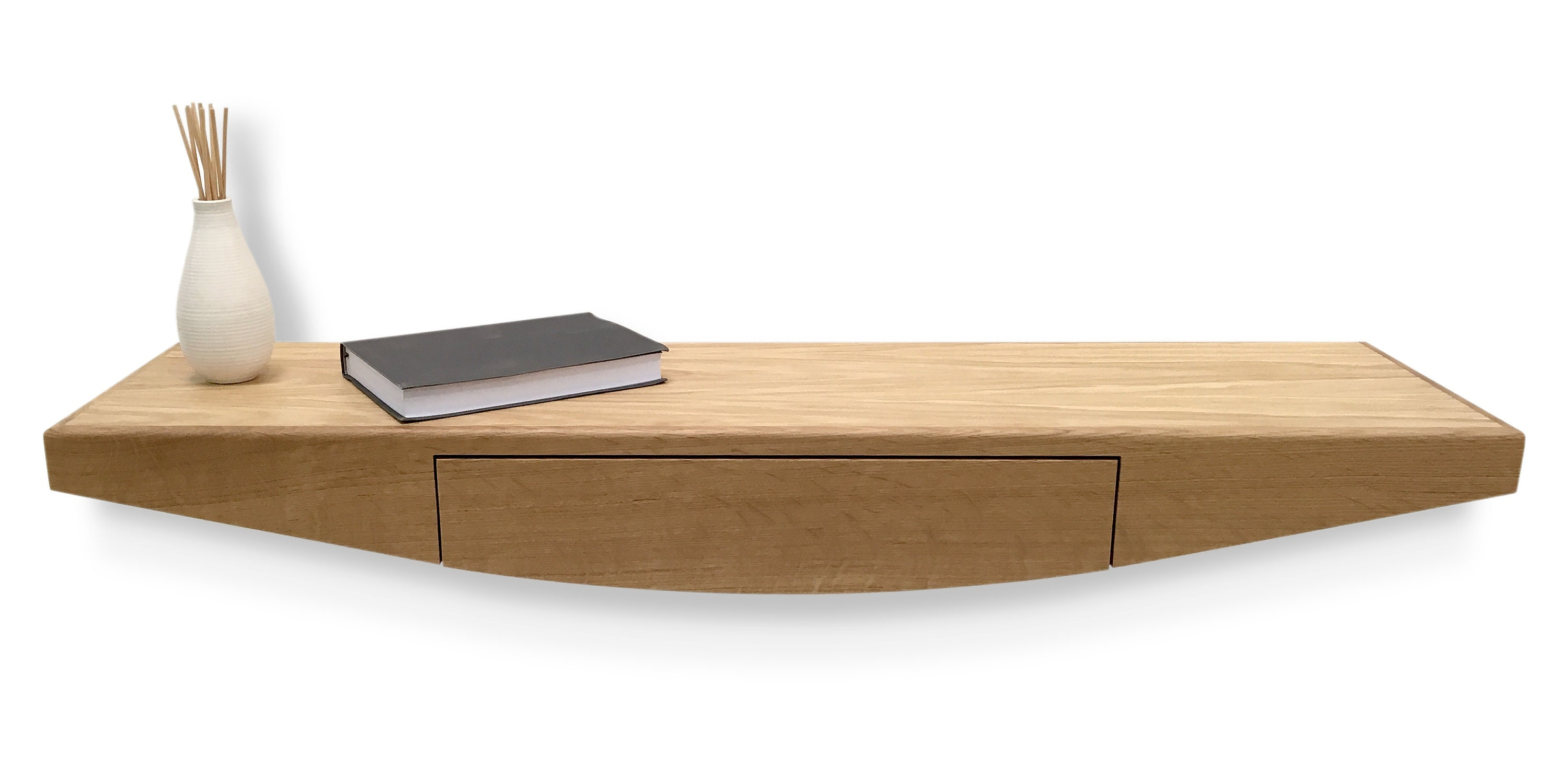Floating Contemporary Entryway Console Table