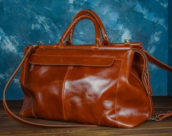 Large brown leather Travel bag cd2c6f52d5580