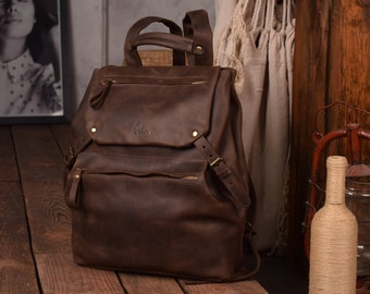 Brown backpack leather,Camera back pack brown,Travel backpack,Leather rucksack brown,Mens back pack,Womens back pack travel,Large back pack
