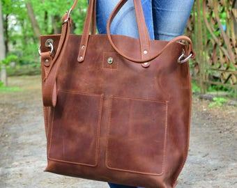 Large leather bag  a33e5e9071ee