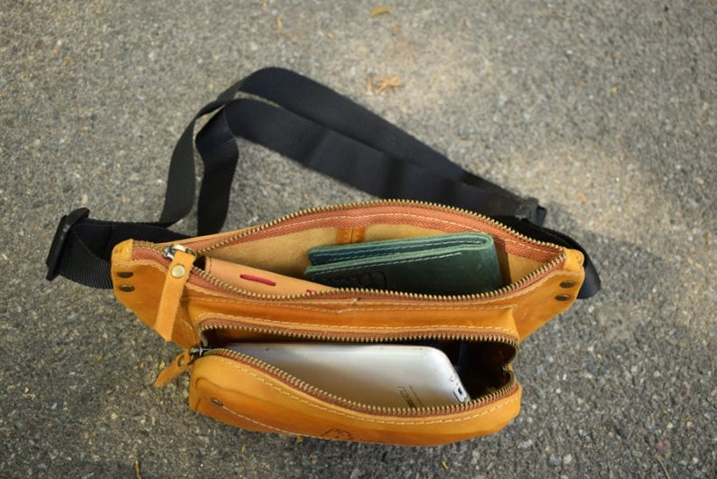 travel pouch fanny pack leather festival fanny pack small bag leather fanny pack Belt bag leather leather hip bag travel hip bag