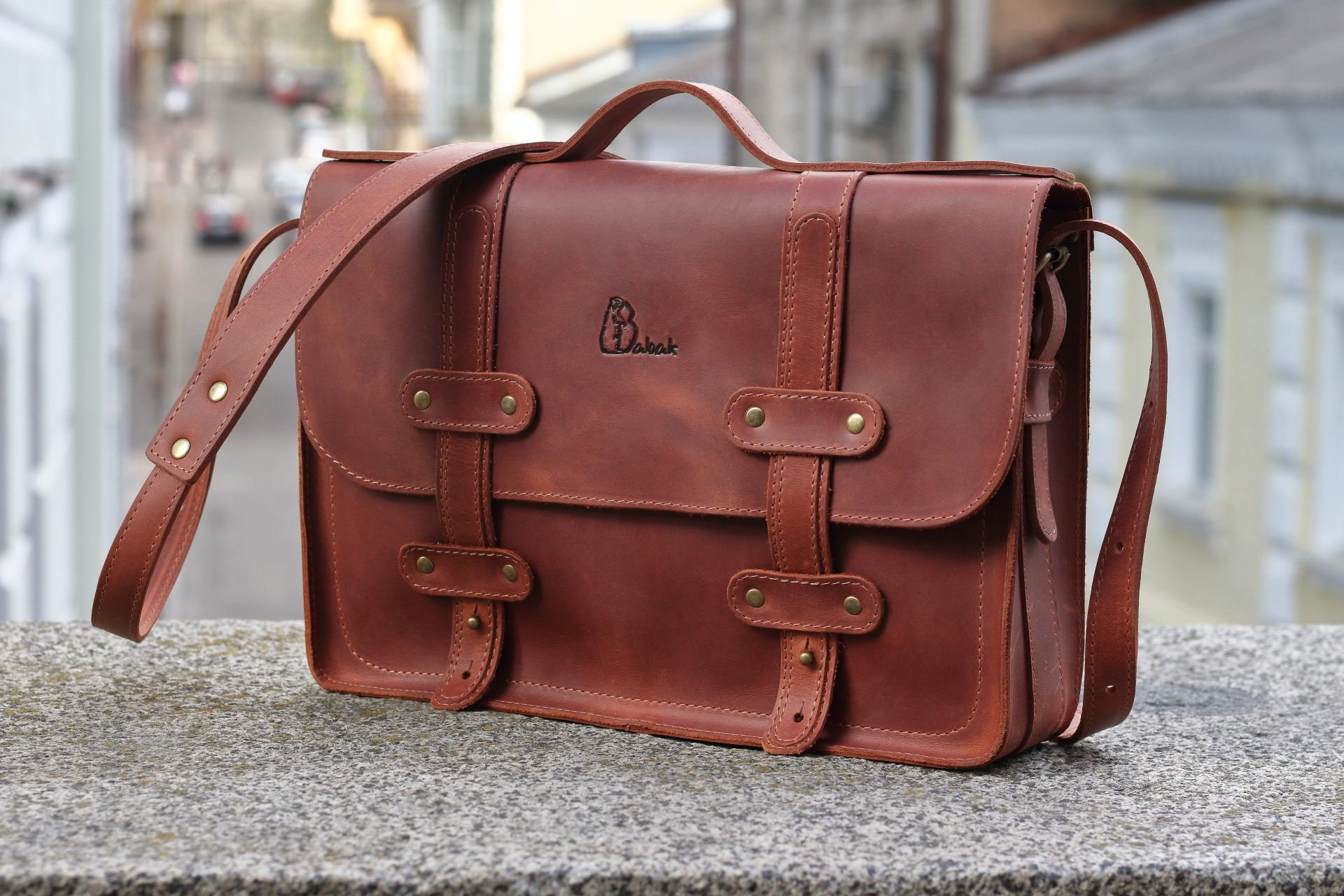 Brown leather satchel messenger bag brown leather bag brown  083f39722c1ea