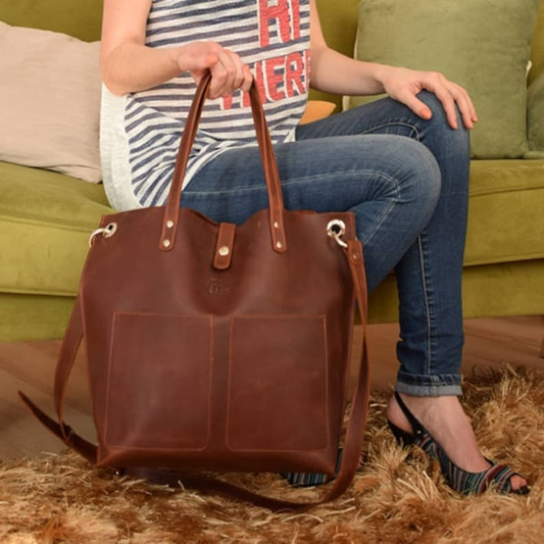 79708561bed5 Leather Tote Large leather tote Big leather tote Leather