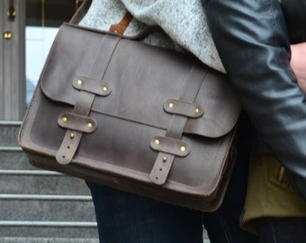 Leather Briefcase + Leather Briefcase Men + Leather Briefcase Women + Mens Leather Briefcase + Leather Satchel + Leather Brief Case