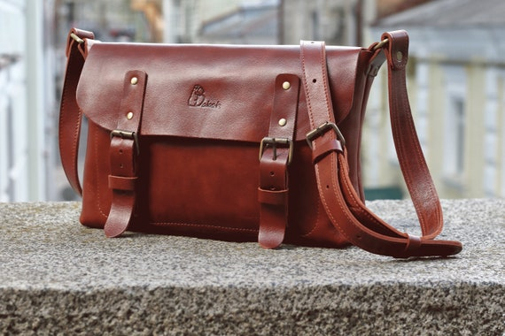 3801a666b5ba Leather messenger bag Brown leather bag Leather camera bag