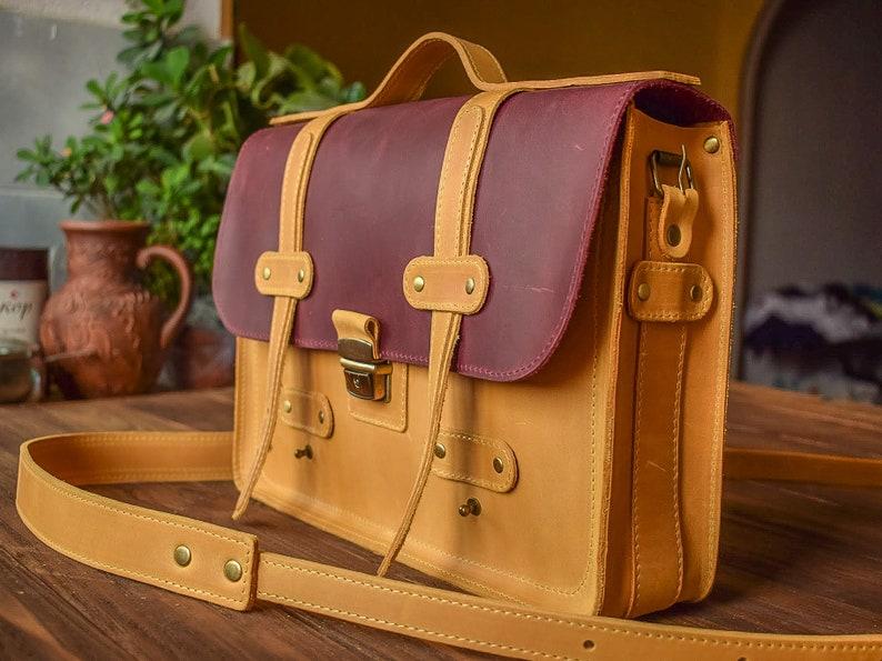 590acba38b85 Leather Laptop bag women Leather Briefcase women Vintage