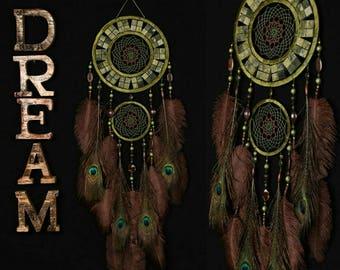Dreamcatcher onyx green mosaic Dream Catcher Large Dreamcatcher New Dreamсatcher gift idea NEW YEAR dreamcatcher boho dreamcatcher wall gift