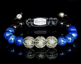 Boyfriend Gift, Christmas Husband Gift, Boyfriend Bracelet, Lapis Lazuli Bracelet, Bracelet Men, Bracelet Silver, Lapis Lazuli, Men Jewelry