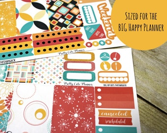 BIG Happy Planner Planner Stickers - Weekly Planner Sticker Set - Happy Planner - Day Designer - Functional stickers - Retro 80s