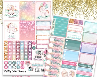 Stay Magical Planner Stickers - Planner stickers - Fits Erin Condren Life Planner - Unicorn Mini Kit Stickers - Unicorn stickers - Unicorns