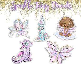 Planner Die Cuts - Die Cut Set - Sparkle Fairy Die Cuts - Fairy Die Cut Set - Fairy Die Cuts - Fairies - Dinosaur diecut  - Fairy Die Cut
