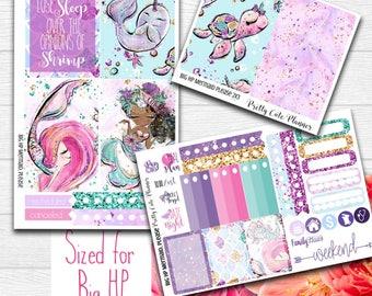 Mermaid BIG Happy Planner Planner Stickers - Weekly Planner Sticker Set - Functional stickers - Mermaid planner stickers - Glitter Mermaid