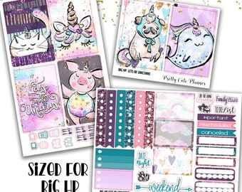 Lets Be Unicorns BIG Happy Planner Planner Stickers - Weekly Planner Sticker Set - Functional stickers - Unicorn Planner Stickers - Unicorn