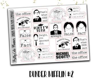 The office planner sticker - Shrute Farms - Scott's Tots - The finer things club - Michael Scott Paper Co - Bears Beets Battlestar gallatica