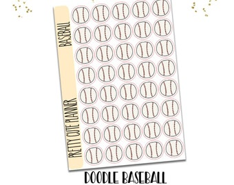Baseball Stickers - planner stickers - hand drawn sticker - Functional Stickers - Sports sticker - baseball practice stickers - baseball