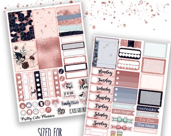 Rose Gold Dreams Planner Stickers - Planner stickers - Fits Erin Condren Life Planner - Rose Gold stickers - fall planner stickers