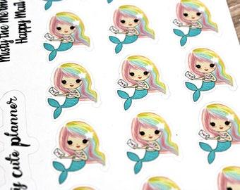 Mermaid Stickers - Mermaid Planner Stickers - Character Stickers - Misty Happy Mail - Happy Mail Mermaid stickers - Happy Mail stickers