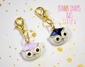 Planner Charm - Owl Charm - Owl Planner Charm - Planner Accessories - TN Charm - Travelers Notebook Charm - Midori Charm - Animal charm