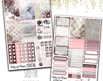 Happy Planner The First Snow Planner Stickers - Planner stickers - Winter Planner Stickers - Christmas Stickers - Winter Stickers