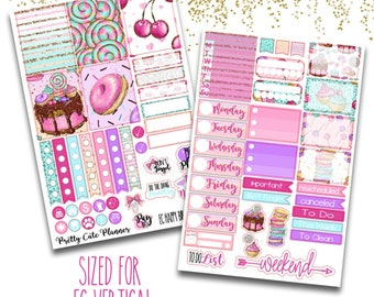 Happy Birthday Planner Stickers - Planner stickers - Fits Erin Condren Life Planner - Birthday Planner stickers - Birthday Week stickers