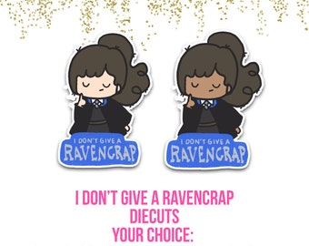 I don't Give a RavenCrap - Planner Die Cuts - Die Cut Set - Wizard Die Cuts - Girl Wizard Diecuts - adhesive diecuts - your choice