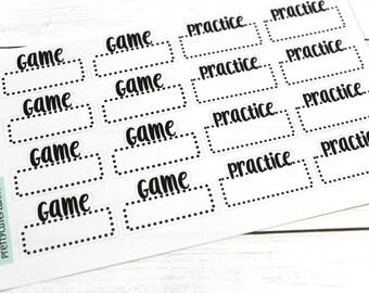 Game Day Stickers - Practice Reminder Stickers - Planner Stickers - Functional Stickers - Sports sticker - Fits Erin Condren - Happy Planner